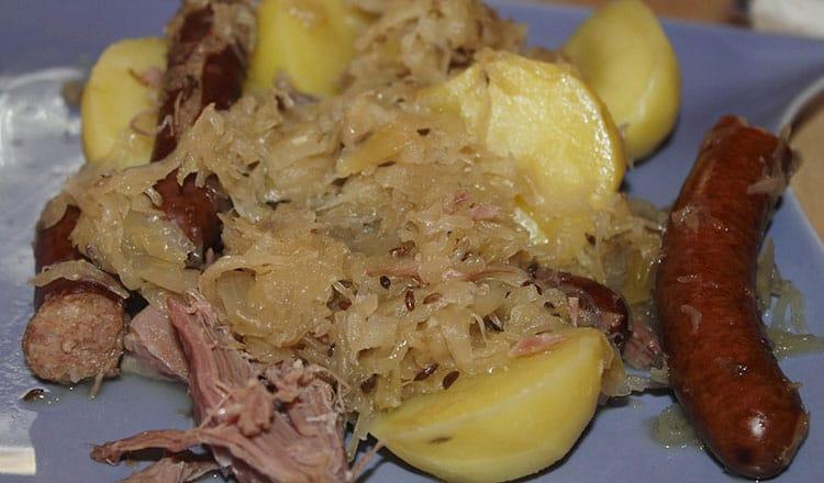 Sauerkraut and Sausage