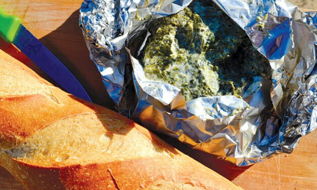 Campfire hot spinach dip