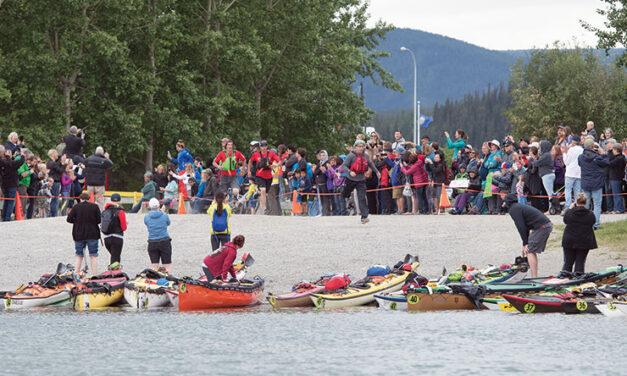 Going from Whitehorse to Dawson on the Yukon River? You better believe that's a paddlin'