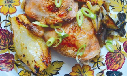 Chicken with pears and shallots