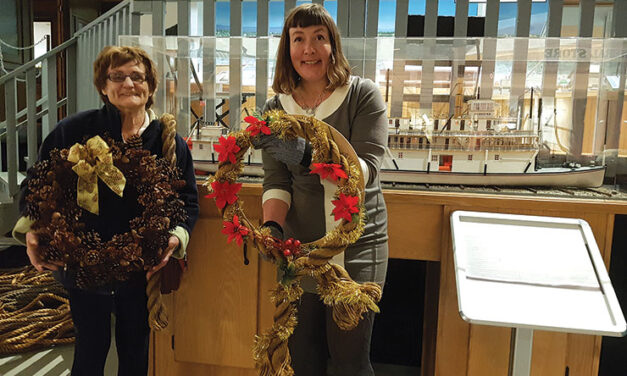 Rope wreaths and Yukon steamers