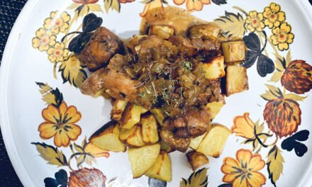 Braised pork with apple cider and tarragon