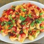 Roasted tomato panzanella salad