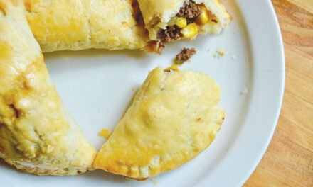 Moose and corn turnovers