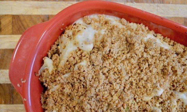 Creamed cauliflower bake
