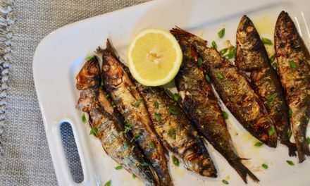 Rosemary grilled herring
