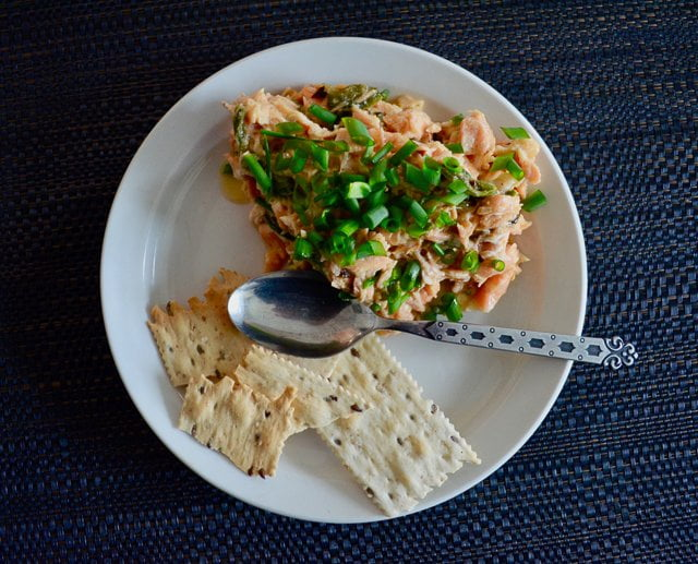 Salmon trimmings: a simple dip and decadent omelette