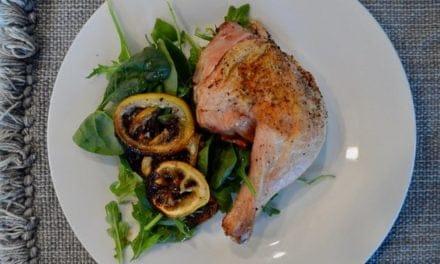 Spatchcock lemon roast chicken