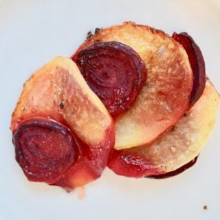 Beet and potato galette
