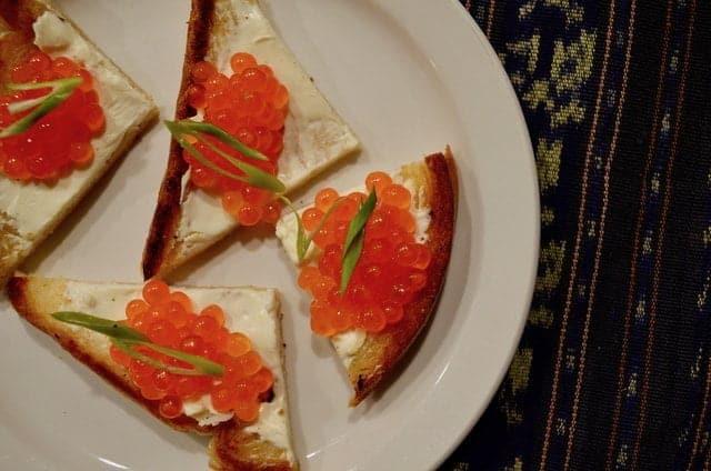 Cured salmon roe