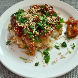 Pork trotter with star anise and soy sauce