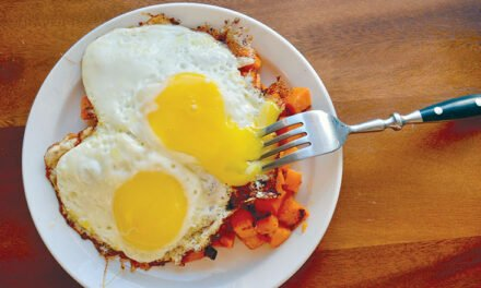 Sweet potato hash and eggs