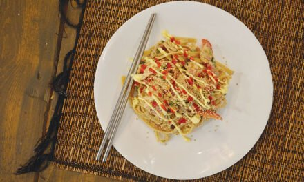 Cold peanut noodles with chicken