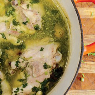 Chicken with cilantro and ginger