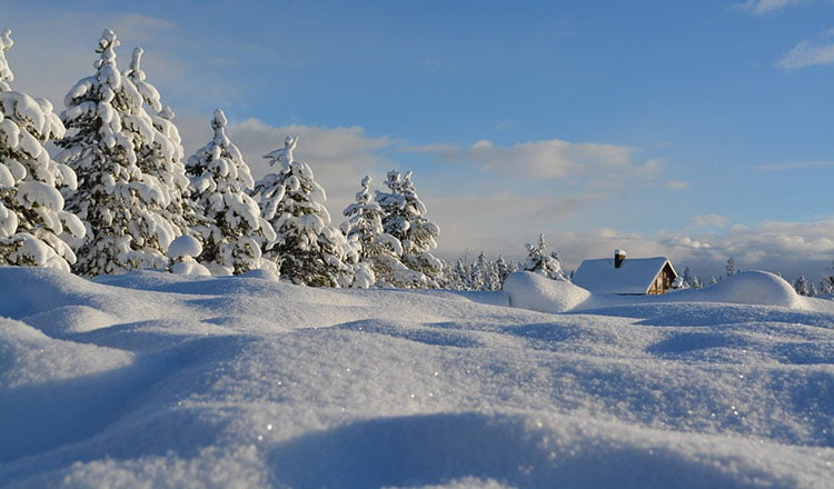 Snow can keep you warm