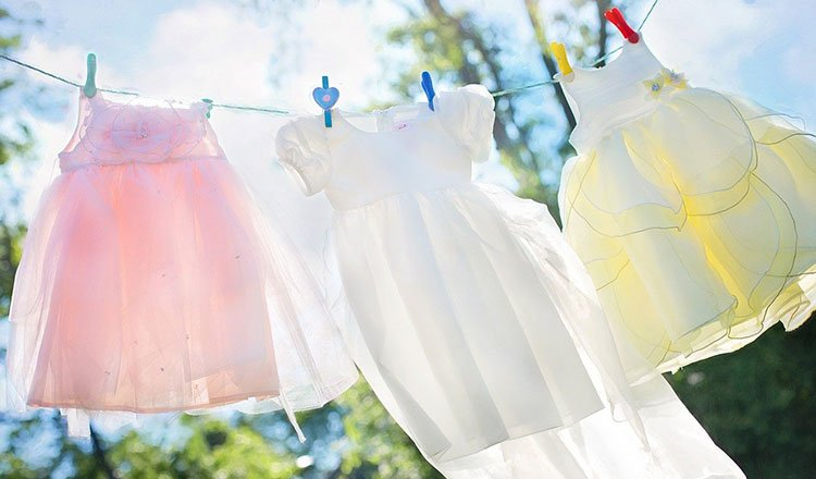 The simple pleasure of hanging laundry