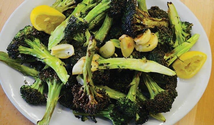 Garlic roasted broccoli with lemon