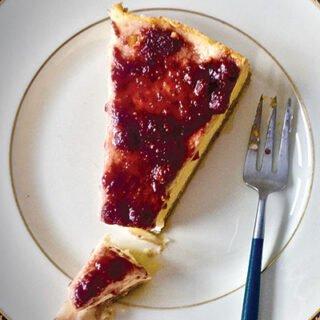 Ricotta Cheesecake with Wild Strawberry Jam