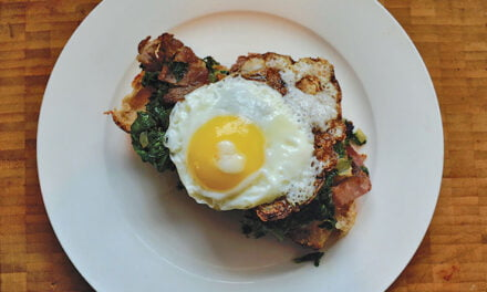 Greens, eggs, and ham