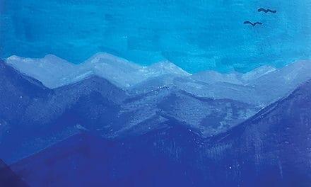 Mini watercolour landscapes