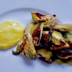 Roasted brussel sprouts and aioli